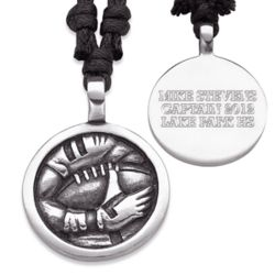 Personalized Pewter Football Necklace