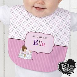 Personalized Precious Moments Christening Baby Bib