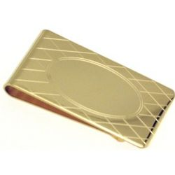 Engraved Gold Plated Money Clip