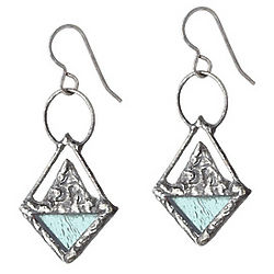 Stained Glass Triangle Earrings
