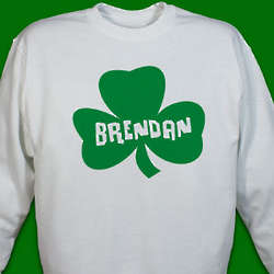 Adult's Personalized Shamrock Sweatshirt
