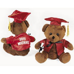 Personalized Plush Graduation Bear in Red