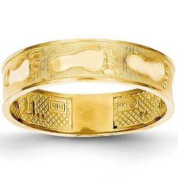 14K Gold Footprints Ring