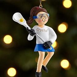 Personalized Lacrosse Player Ornament