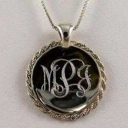 Sterling Silver Rope Monogram Necklace