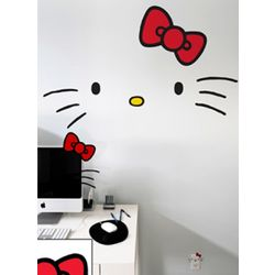 Hello Kitty Faces Wall Graphics