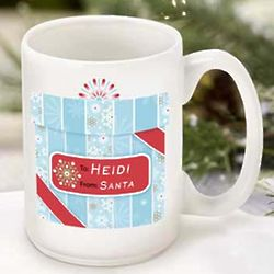Holiday Present Personalized Coffee Mug