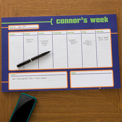 Boy's Personalized Desk Pad Calendar