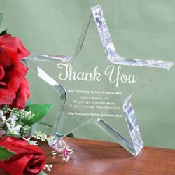 Thank You Awareness Award Star Keepsake