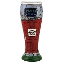 Man Cave Pilsner Glass