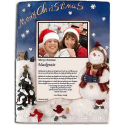 Personalized Christmas Snowman Love Poem Frame
