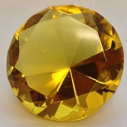 Gold Multi-Faceted Solitaire Crystal