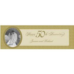 50th Anniversary Medium Custom Photo Banner