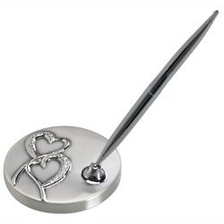 Hearts Wedding Pen Stand