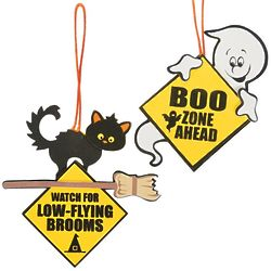 12 Ghost & Cat Road Signs Craft Kits