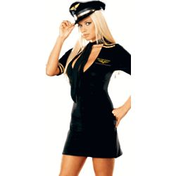 Adult Sexy Mile High Captain Costume