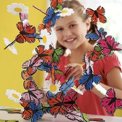 Connectagons Butterflies and Flowers Building Set