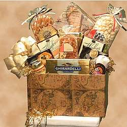 Classic Antique Globe Snack Gift Basket