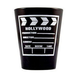 Black and White Clapboard Shotglass