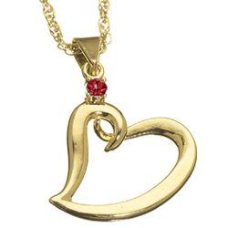 Mothers January Birthstone Heart Charm Pendant