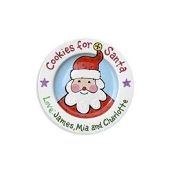 Personalized Santa's Cookies Plate