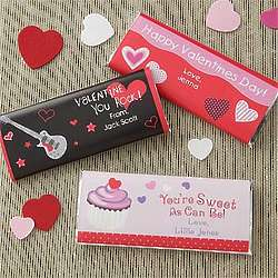 Personalized Sweet As Can Be Valentine's Chocolate Bar Wrappers