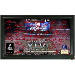 New York Giants Super Bowl XLVI Champions Signature Gridiron
