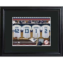 Personalized Yankees Locker Room Art Print
