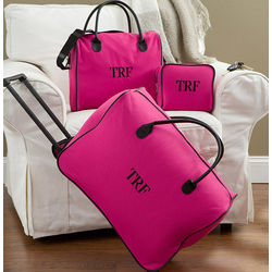 Personalized Pink Luggage 3-Piece Set