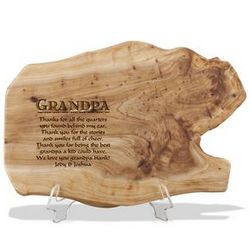 Fir Wood Personalized Plaque for Grandparent