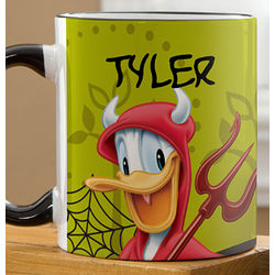 Personalized Donald Duck Halloween Coffee Mug
