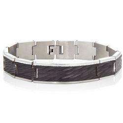 Men's Stainless Steel Waves Bracelet