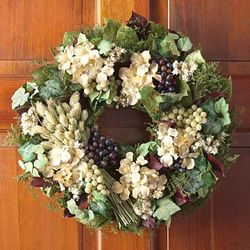 "Floral and Grape 16"" Wreath"