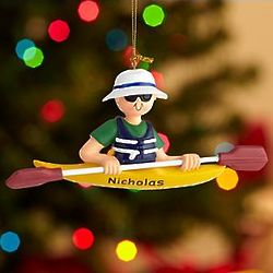 Personalized Kayaker Ornament