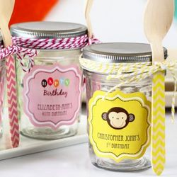 Personalized Birthday Mini Mason Jars