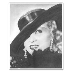 Mae West Pencil Sketch