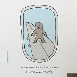 View Out of Plane Window Wall Decal