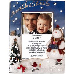Personalized Christmas Snowman Frame for Daddy