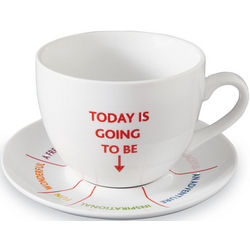 Today Is Going to Be Cup and Saucer Set
