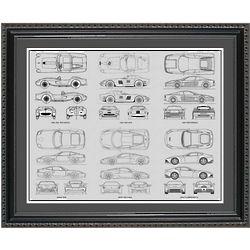 Ferrari Blueprint Collection Framed Print
