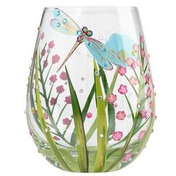 Dragonfly Stemless Wine Glass