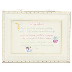 Girl's Personalized Good Night Prayer Music Box