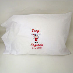 """I Love You This Much"" Personalized Pillowcase"