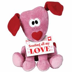 Valentine's Day Sending All My Love Plush Puppy