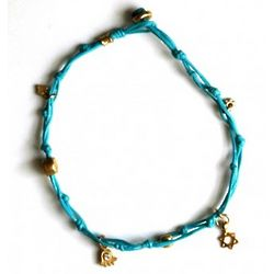 Turquoise Star of David Anklet