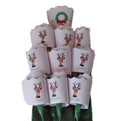 Christmas Reindeer Paper Roses