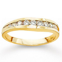 14k Yellow Gold Channel 1/2ct Diamond Anniversary Band