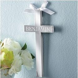 Personalized Silver Cross