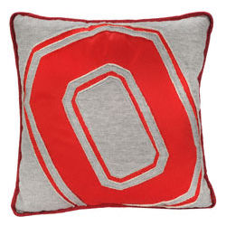 Ohio State Buckeyes Big Logo Sweatshirt Pillow