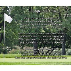 The Perfect Golf Swing 8x10 Poem Print